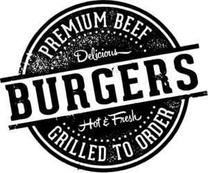 Vintage Burgers Restaurant Sign