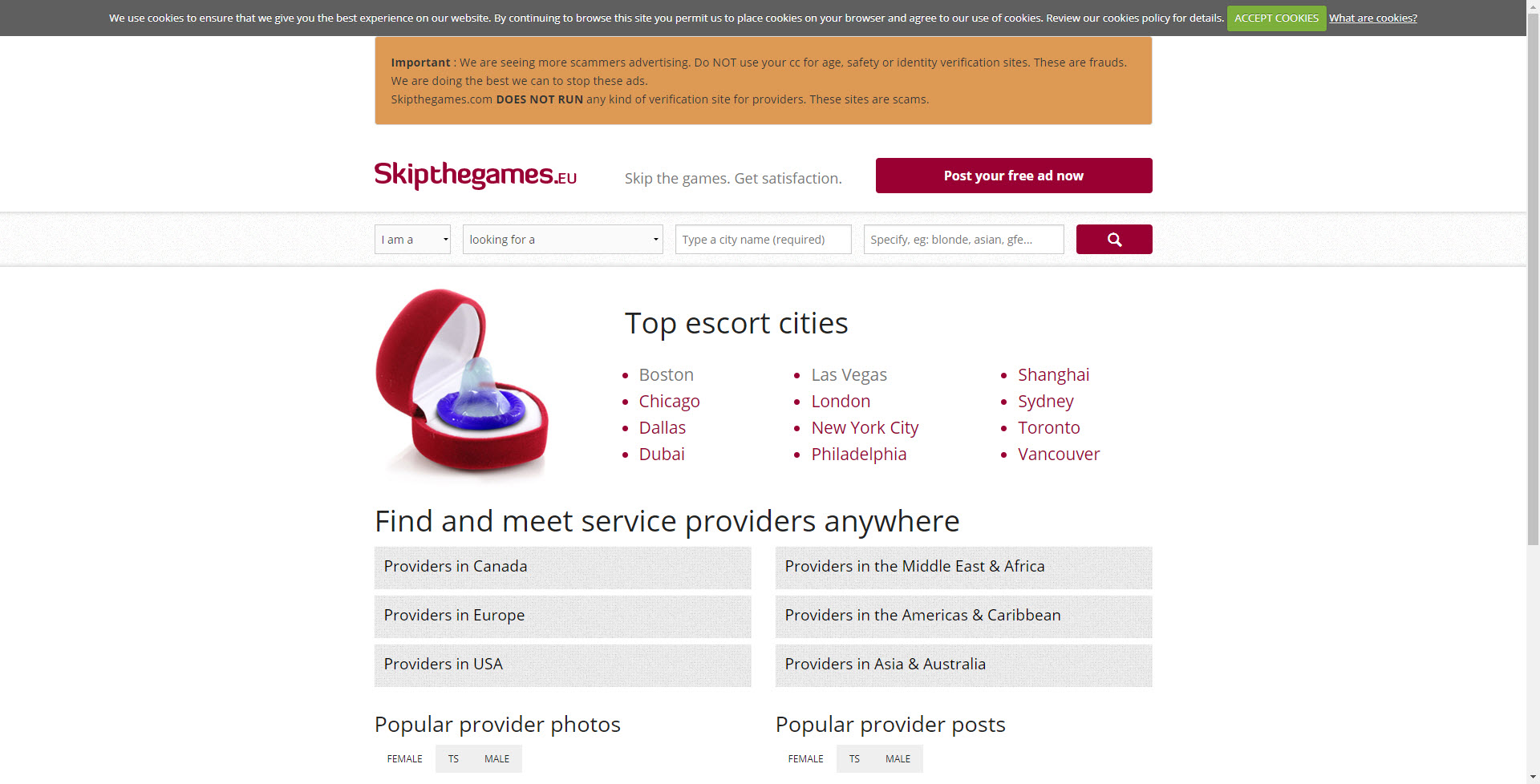 A photo of skipthegames.com
